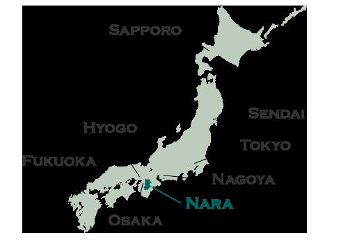 Nara Kiki Manyo MeishoZue Kojiki Edition - Japan map nara