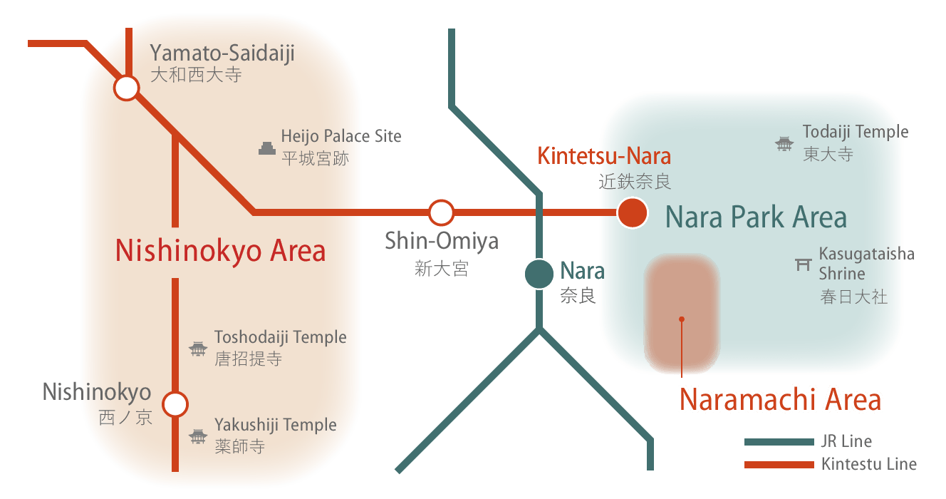 Area of Nara City